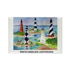NC Lighthouses Rectangle Magnet