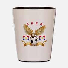 Saba Football Design Shot Glass