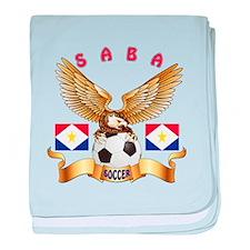 Saba Football Design baby blanket