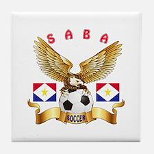 Saba Football Design Tile Coaster
