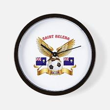 Saint Helena Football Design Wall Clock