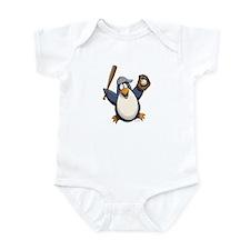 Baseball Penguin Infant Bodysuit