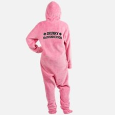 Drunky McDrunkerson Footed Pajamas