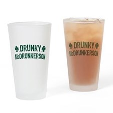Drunky McDrunkerson Drinking Glass
