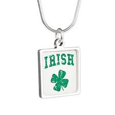 Vintage Irish Silver Square Necklace