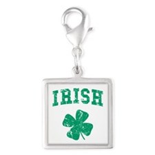 Vintage Irish Silver Square Charm