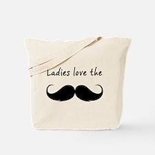 Ladies love the stache Tote Bag