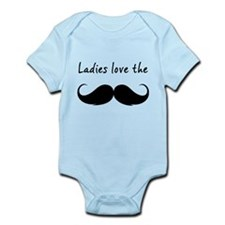 Ladies love the stache Infant Bodysuit