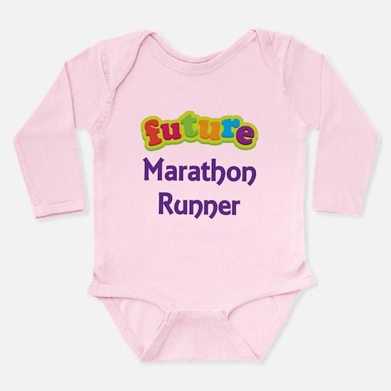 Future Marathon Runner Long Sleeve Infant Bodysuit