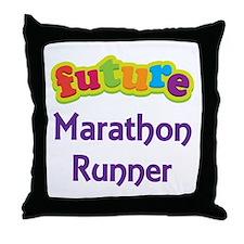Future Marathon Runner Throw Pillow