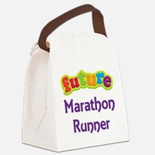 Future Marathon Runner Canvas Lunch Bag
