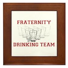 Fraternity Drinking Team Framed Tile
