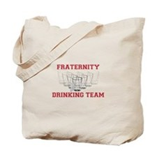 Fraternity Drinking Team Tote Bag