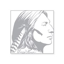 "Crazy Horse Square Sticker 3"" x 3"""