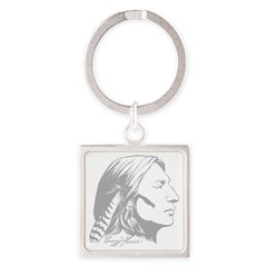 Crazy Horse Square Keychain