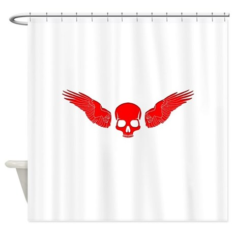 Red Skull wings Shower Curtain