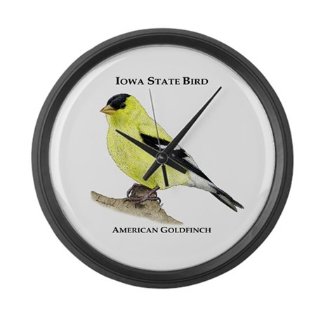 Iowa State Bird Large Wall Clock