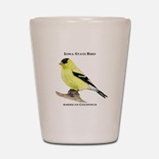 Iowa State Bird Shot Glass