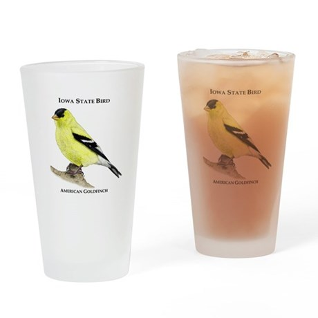 Iowa State Bird Drinking Glass