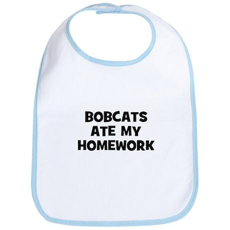 Bobcats Ate My Homework Bib