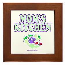 Mom's Kitchen Framed Tile