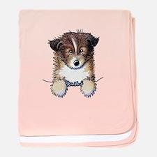 Pocket Sheltie baby blanket