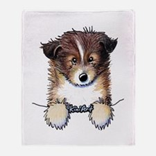 Pocket Sheltie Throw Blanket