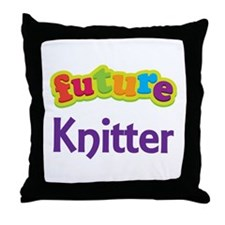 Future Knitter Throw Pillow