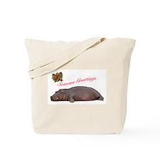 Season's Greetings Hippo Fun Tote Bag