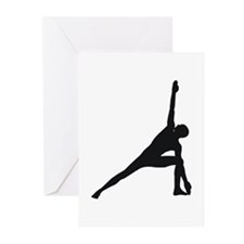 Bikram Yoga Triangle Pose Greeting Cards (Pk of 10