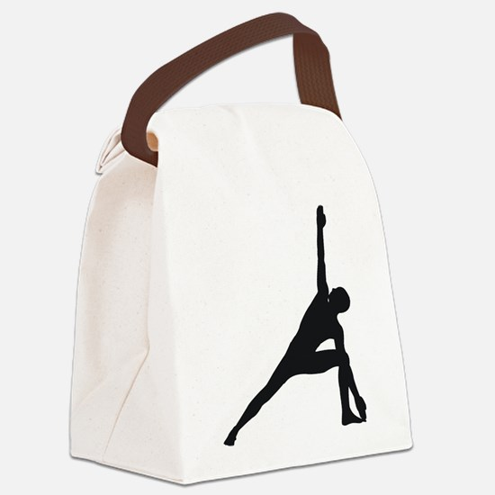 Bikram Yoga Triangle Pose Canvas Lunch Bag