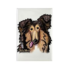 Shetland Sheepdog Rectangle Magnet
