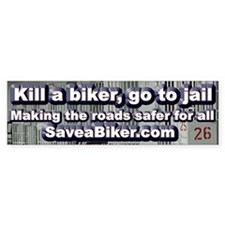 Save a Biker Bumper Bumper Sticker