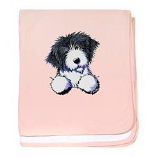 Pocket Bearded Collie baby blanket