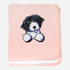 Pocket Bearded Collie baby blanket
