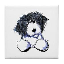 Pocket Bearded Collie Tile Coaster