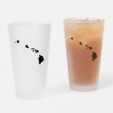 Hawaiian Islands Drinking Glass