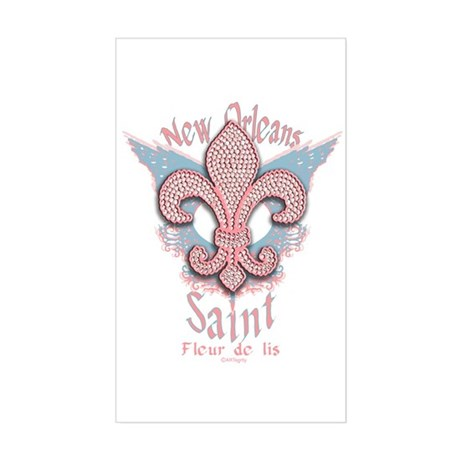Saint Fleur de lis New Orleans Sticker (Rectangula