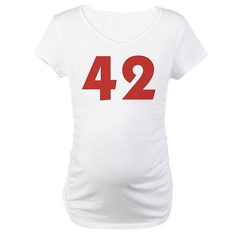 42 (SRed) Maternity T-Shirt