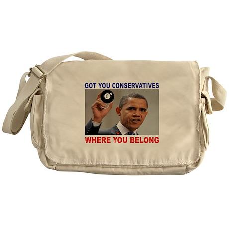 EIGHT BALL REPUBLICANS Messenger Bag
