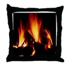 Burning coal - Throw Pillow