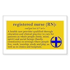 Nurse Rectangle Decal