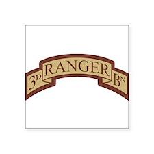 3rd Ranger Bn Scroll Desert Rectangle Sticker