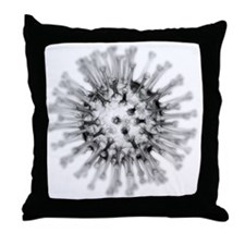 H1N1 flu virus particle, artwork - Throw Pillow