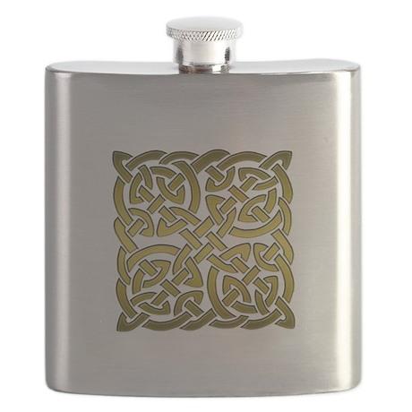 Celtic Knot Maze Gold Flask
