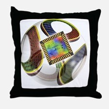 Football with chip - Throw Pillow