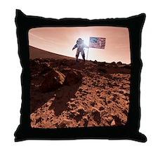 US exploration of Mars, artwork - Throw Pillow