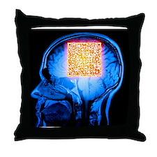Brain MRI scan with Alzheimer's QR code - Throw Pi