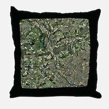 Cardiff, aerial photograph - Throw Pillow