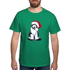 Bearded Collie Santa T-Shirt